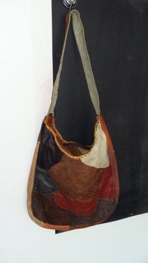 Patchworktasche mit Reißverschluss