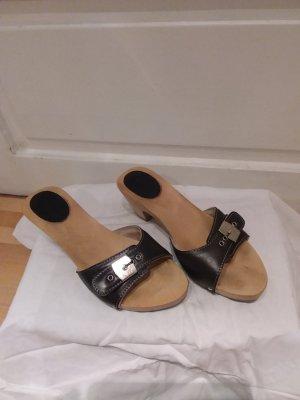 Scholl Heel Pantolettes black-light brown