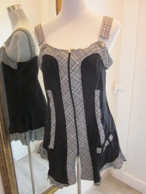 Patrice Breal Latz Longtop Kleid schwarz weiss Gr 44