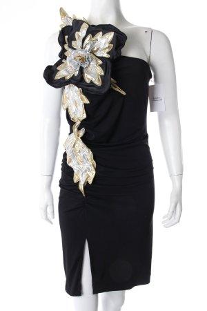 Patricia Field One-Shoulder-Kleid schwarz mit Besatz