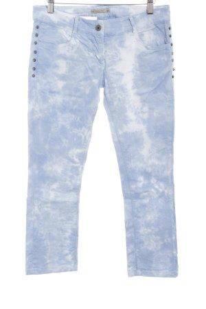 Patricia Pepe Pantalon 7/8 bleu azur-blanc motif batik style mode des rues