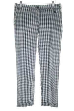 Patricia Pepe Pantalon 7/8 noir-blanc motif Vichy style décontracté