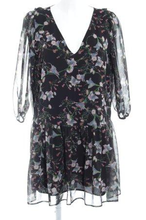 Patricia Pepe Vestido de chifón estampado floral estilo romántico