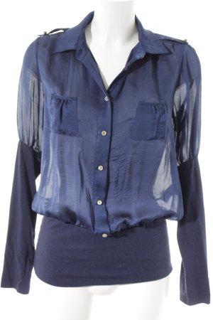 Patricia Pepe Langarm-Bluse dunkelblau Casual-Look