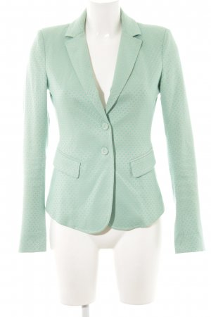 Patricia Pepe Long-Blazer türkis Allover-Druck Business-Look