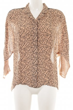 Patricia Pepe Oversized Bluse beige-schwarz Animalmuster Animal-Look