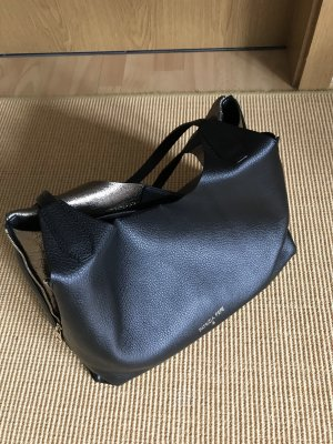 Patricia Pepe Shopping Bag Dark Silver/Nero