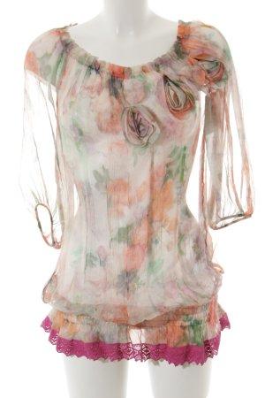 Patricia Pepe Transparenz-Bluse Blumenmuster Transparenz-Optik