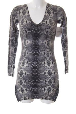 Patricia Pepe V-Ausschnitt-Pullover schwarz-grau extravaganter Stil