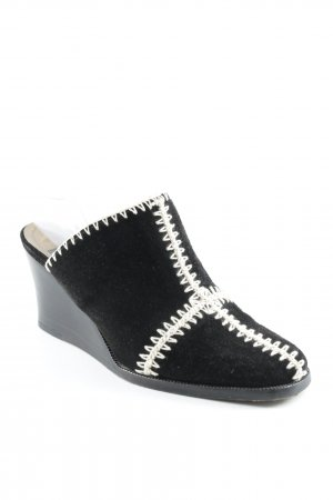 Patrick Cox Heel Pantolettes black-natural white casual look