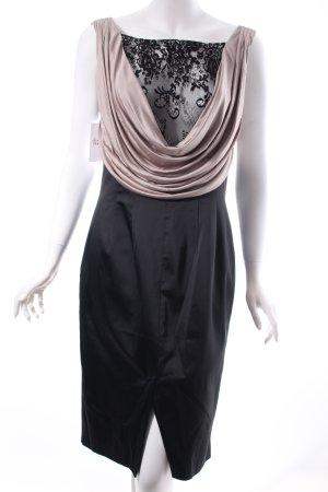 Patrizia Dini Abendkleid schwarz-graubraun Elegant
