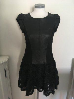 Patrizia Dini Leren jurk zwart Leer