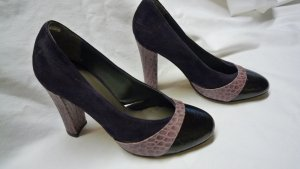 Patrizia Dini High Heels dark violet-lilac leather