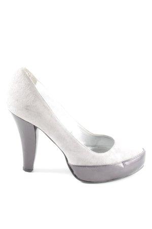 Patrizia Dini High Heels hellgrau-silberfarben Elegant
