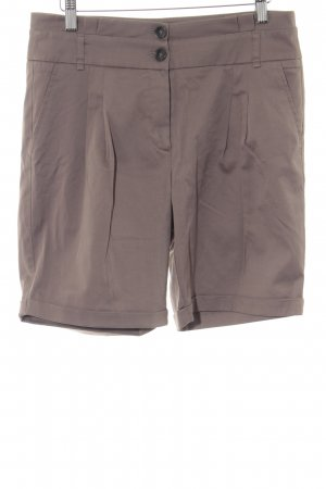 Patrizia Dini High-Waist-Shorts graubraun Casual-Look