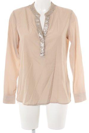 Patrizia Dini Langarm-Bluse beige Elegant