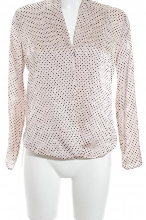 Patrizia Dini Langarm-Bluse rosé-schwarz Punktemuster Elegant