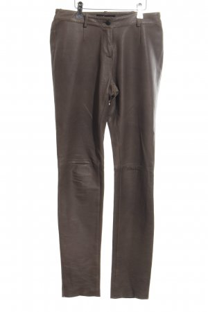 Patrizia Dini Leather Trousers brown casual look