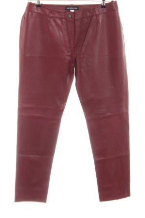 Patrizia Dini Pantalone in pelle rosso stile casual