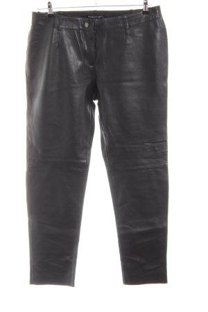 Patrizia Dini Pantalone in pelle nero stile casual