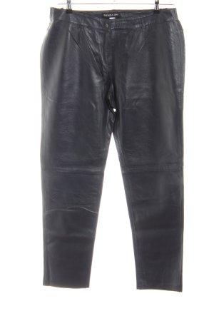 Patrizia Dini Pantalone in pelle nero stile stravagante