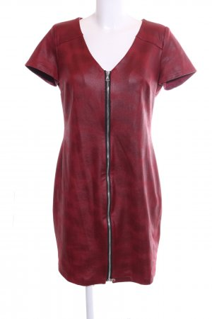 Patrizia Dini Minikleid rot-schwarz Allover-Druck Casual-Look