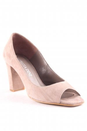 Patrizia Dini Peep Toe Pumps beige casual look