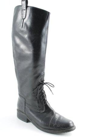 Patrizia Dini Bottes à lacets noir style décontracté