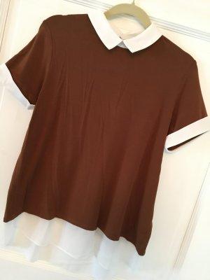 Patrizia Dini Shirt braun / weiß Gr. 38
