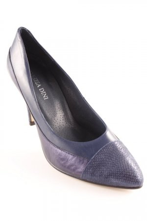 Patrizia Dini Spitz-Pumps blau Glanz-Optik