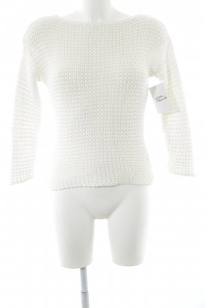 Patrizia Dini Strickpullover weiß Casual-Look