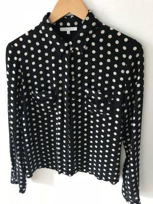 Patricia Pepe Zijden blouse zwart-wit