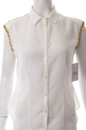Patrizia Pepe ärmellose Bluse creme-weiß Eleganz-Look