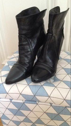 Patrizia Pepe Ankle Boots Stiefeletten Echtleder schwarz 39
