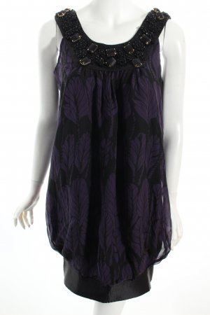 Patrizia Pepe Balloon Dress black-dark violet casual look