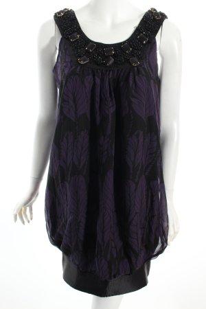 Patrizia Pepe Robe ballon noir-violet foncé style décontracté