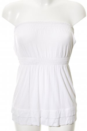 Patrizia Pepe Bandeau top wit casual uitstraling