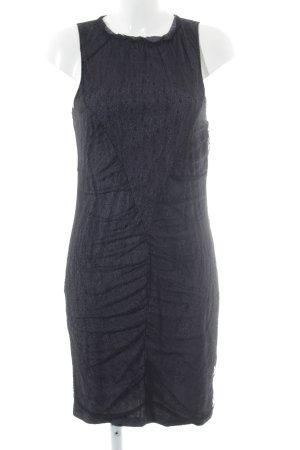 Patrizia Pepe Pencil Dress black-grey violet loosely knitted pattern elegant