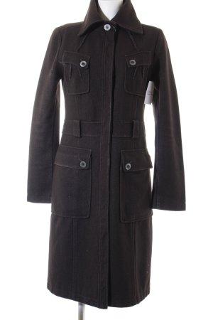Patrizia Pepe bodenlanger Mantel dunkelbraun schlichter Stil