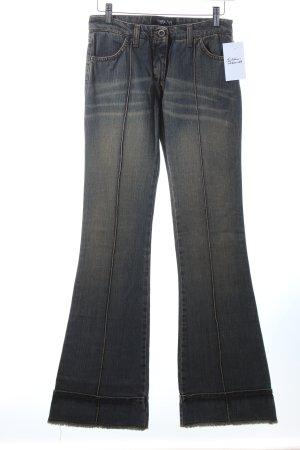 Patrizia Pepe Boot Cut Jeans dunkelblau-beige Casual-Look