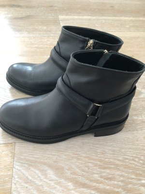 Patrizia Pepe Boots Stiefelette Gr. 40 Schwarz m.goldfarbenen Details NEU