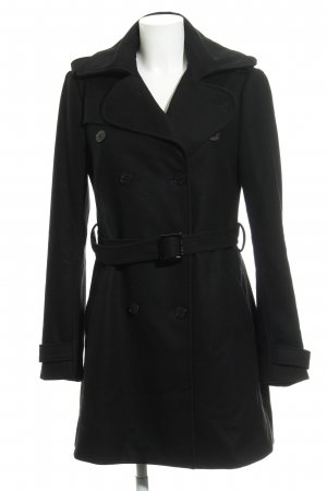 Patrizia Pepe Heavy Pea Coat black business style
