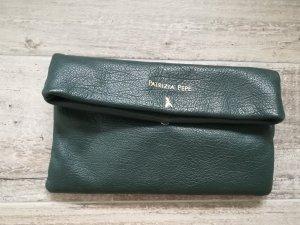 Patrizia Pepe Clutch Umhängetasche Leder grün gold Abendtasche