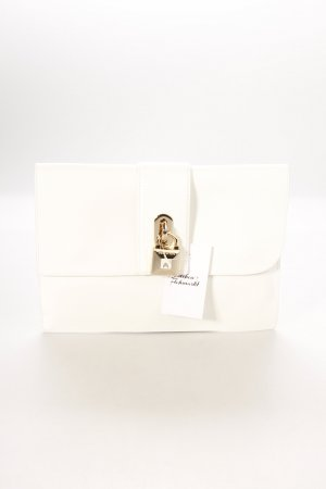 Patrizia Pepe Clutch wit-goud klassieke stijl