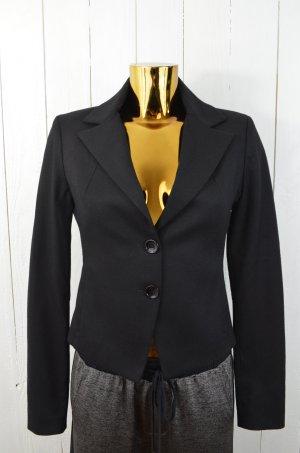 PATRIZIA PEPE Damen Blazer Jacke Schwarz Wolle Lycra Einreiher Gr.ital.40/ 34