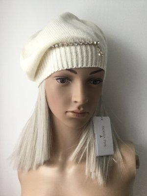 Patricia Pepe Chapeau en tricot crème laine