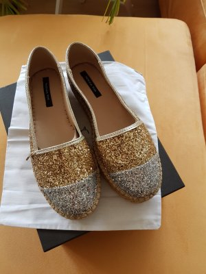 Patricia Pepe Espadrille Sandals silver-colored-gold-colored