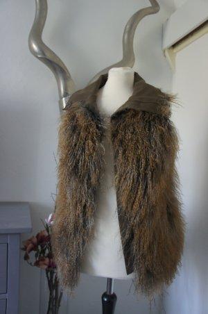 Patrizia Pepe Smanicato di pelliccia marrone-grigio