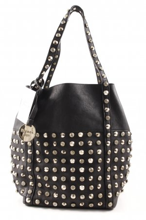 Patrizia Pepe Carry Bag black-gold-colored street-fashion look