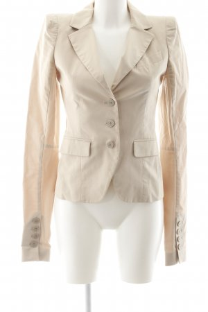 Patrizia Pepe Jersey blazer beige zakelijke stijl